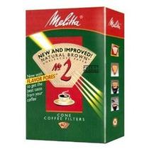 Melitta Cono Café Filtros 40 Conde # 2 Natural Marrón
