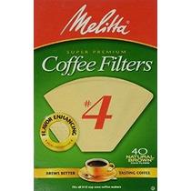 Melitta Cono Café Filtros Natural Brown Nº 4 40-count Filtro