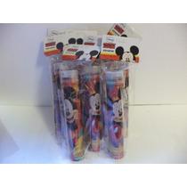 Mickey Mouse Lapiceras Con Sacapuntas 10 Piñata Premio