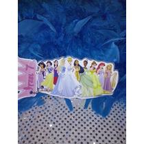 12 Invitacion Con Cadenita Princesas Todas!