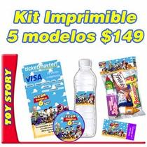 Kit Imprimible Personalizado Fiesta, Cumpleaños Dulcero Bolo