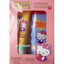 Hello Kitty, Set De Crema Y Shampoo Olor A Fresa, Sanrio