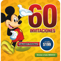 Paquete De 60 Invitaciones Desde $199 Pesos