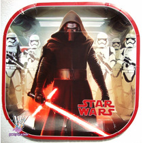 Platos Vasos Stickers Fiesta Star Wars Episodio V I I