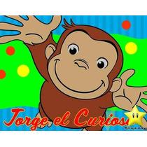 Kit Imprimible Jorge El Curioso Diseñá Tarjetas Cumples 2x1