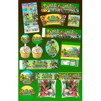 Kit Imprimible Plantas Vs Zombies Personalizado 30 Etiquetas