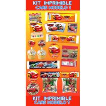 Kit Imprimible Cars Personalizado 30 Etiquetas