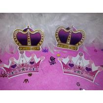 10 Invitaciones En Forma De Corona Princesa Y Principe