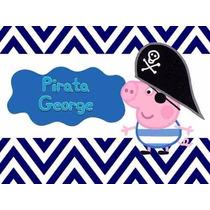 Kit Imprimible 2x1 George Peppa Pirata Invitaciones Candy