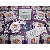 Invitaciones Princesita Sofía Y Frozen Recuerdos