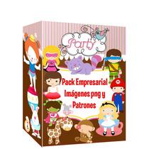 Kit Imprimible Pack Imagenes Png + Patrones Fiesta