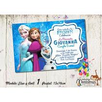 Invitacion Frozen Diseño Imprimible Personalizado