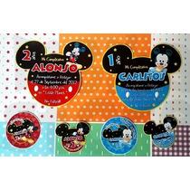 Invitaciones Mickey Mouse Miki Personalizadas Impresas Cumpl