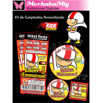 Invitaciones De Cumpleaños Kit Kick Buttowski Imprimelo Tú!!
