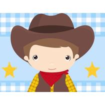 Kit Imprimible Cowboy Vaquero Candy Bar Tarjetas Y Mas