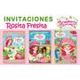 Kit Imprimible Invitaciones Cumpleaños Rosita Fresita Fiesta