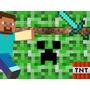 Kit Imprimible Minecraft Diseña Tarjetas Invitaciones Mas