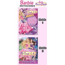 Invitaciones Y Kit Barbie Princesa Popstar Cumpleaños