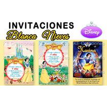 Kit Imprimible Invitaciones Cumpleaños Blanca Nieves Disney