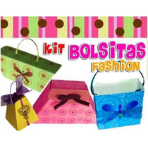 Kit Imprimible Bolsitas Fashion Para Souvenir O Invitaciones