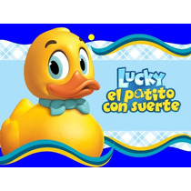 Kit Imprimible Lucky El Patito Diseñá Tarjetas Cumples Y 2x1