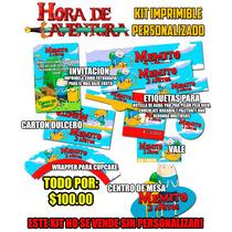 Hora De Aventura Kit Imprimible Invitaciones Etiquetas Y Mas