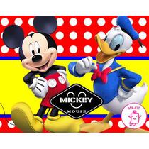Kit Imprimible De Mickey Mouse Diseñá Tarjetas Cotillon Mas