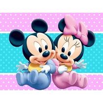 Kit Imprimible Mickey Minnie Bebe Diseñá Tarjetas Cumples #2
