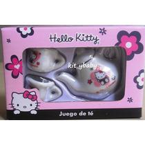 Fiesta De Hello Kitty, Juego De Té (porcelana) Original