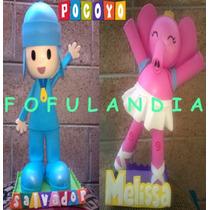 Centros D Mesa,fofuchas,cumpleaños,fiestas Infantiles,pocoyo