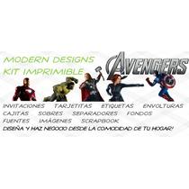 Kit Imprimible The Avengers Adornos Invitaciones Y+