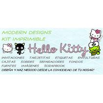 Kit Imprimible Hello Kitty Adornos Invitaciones Recuerdos Y+
