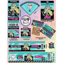 Invitaciones Monster High-paquete Fiesta Monster High #4