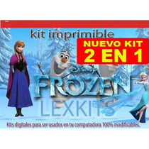 Mega Kit Imprimible Frozen Invitaciones 100% 2015 Calendario