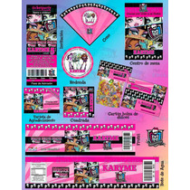 Invitaciones Monster High - Paquete #3