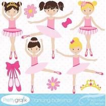 Kit Imprimible Pequeñas Bailarinas Imagenes Clipart