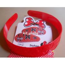Fiesta De Minnie Mouse, Diadema Con Broches