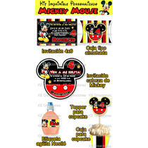 Kit Imprimible Cumpleaños Mickey Mouse Disney Fiesta