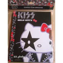 Fiesta De Hello Kitty, Diario C/broche Y Llaves, Original