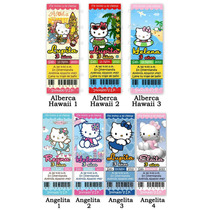 Invitaciones Cumpleaños Hello Kitty Ticket Fiesta Sanrio