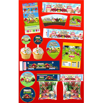 Kit Imprimible Angry Birds Personalizado Mas De 30 Etiquetas