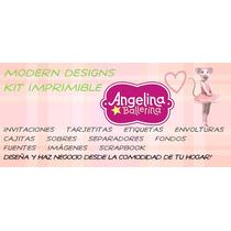 Kit Imprimible Angelina Ballerina Adornos Invitaciones Y+