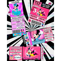 Invitaciones Minnie Mouse-invitaciones Mimi