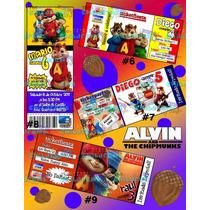 Invitaciones De Alvin Y Las Ardillas-invitaciones Infantiles