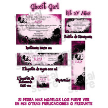 Invitaciones Xv Años Ghost Girl Kit Flr