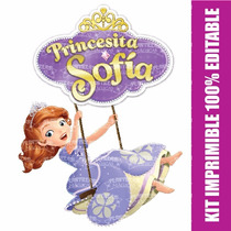 Kit Imprimible Editable Princesita Sofía A Credito