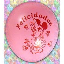 Globos De Látex Minnie Mouse (paquete Con 25 Piezas)