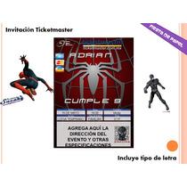 Ki-016 Kit Imprimible Y Editable Spiderman El Hombre Araña