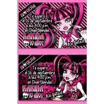 Invitaciones Monster High Draculaura Clawdeen Spectra