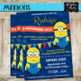 Invitaciones De Minnions-despictable Me-mi Villano Favorito